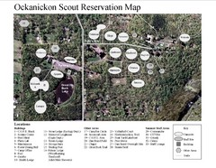 Camp Okanickon Scout Reservation Map