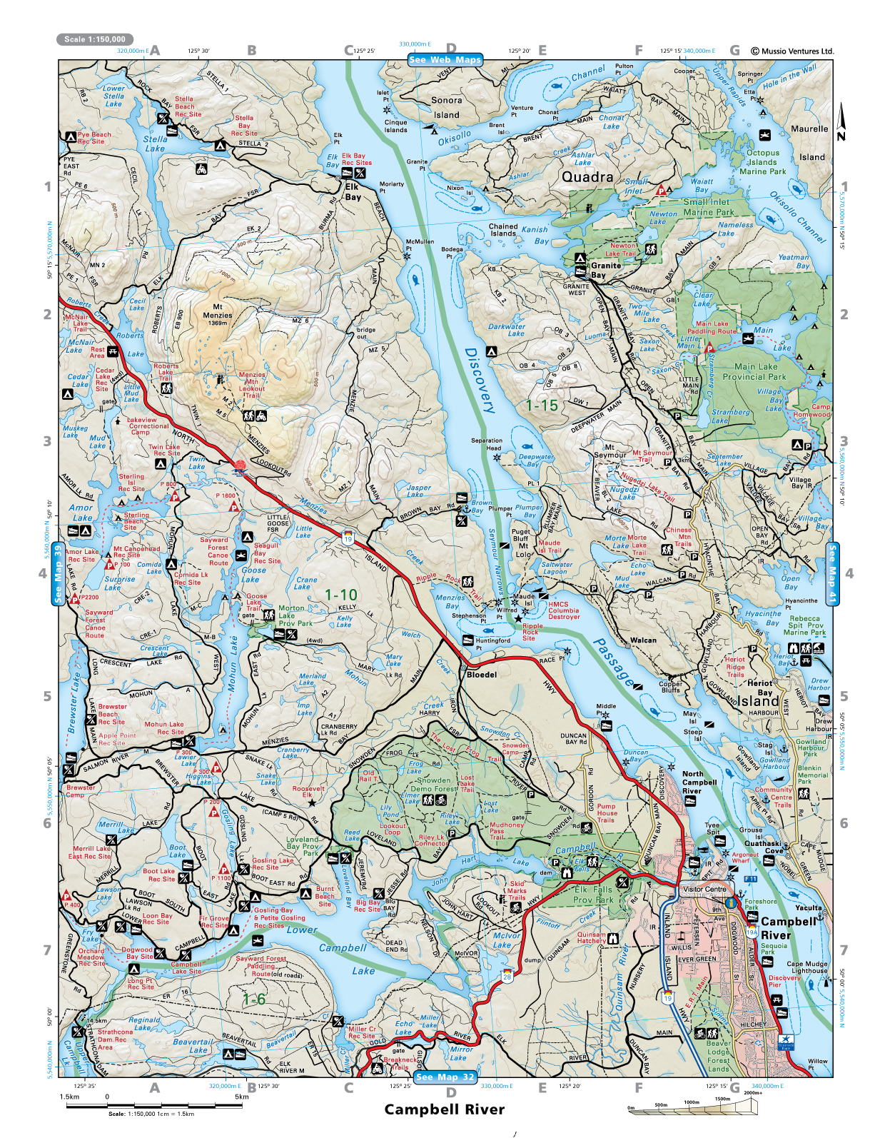 Campbell River Area Map Bloedel mappery