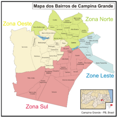 Campina Grande Neighborhood Map