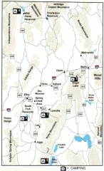 Camping in Elko County, Nevada Map