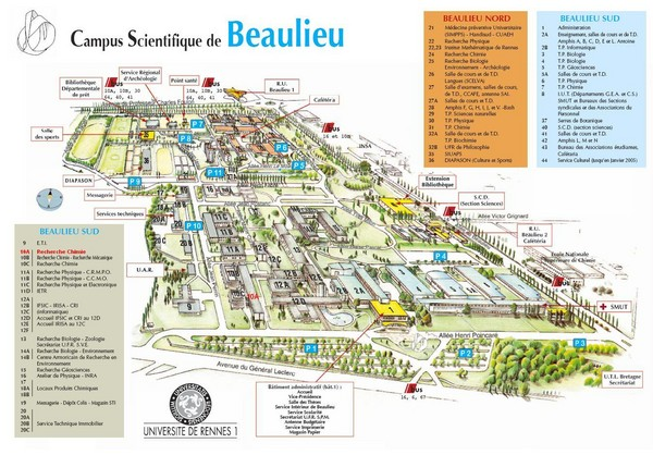 Campus Scientifique de Beaulieu Map
