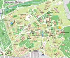 Campus de Moncloa of Complutense University Map
