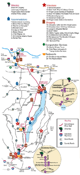 Canadaigua Wine Trail Map