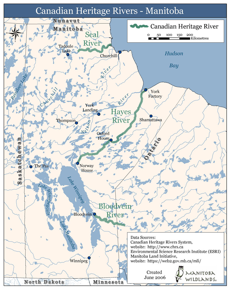 Canadian Heritage Rivers Manitoba Map Hayes River Manitoba mappery