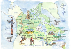 Canadian Tourist Illustrated Map