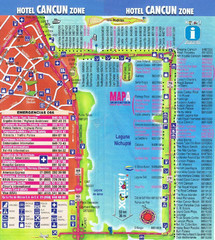 Cancun Hotel Map