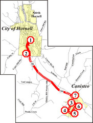 Canisteo-Hornell Bus Route Map