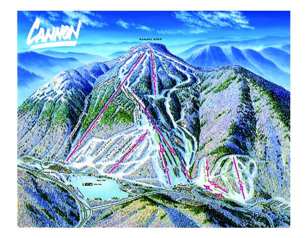 franconia notch hiking map with Cannon Mountain Ski Trail Map on Franconia Ridge Lafayette Lincoln Liberty And Flume additionally Visit White Mountain National Forest as well Franconia Ridge likewise Nhtrailmaps moreover Bethlehem NH Snowmobile Trail Map.