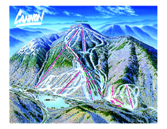 Cannon Mountain Ski Trail map