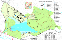 Canoe Creek State Park map