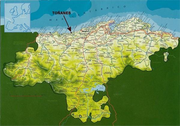 Cantabria Spain Tourist Map Cantabria mappery