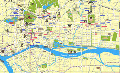 Canton Guangzhou City Tourist Map