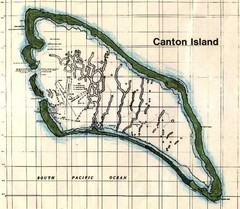 Canton Island Map