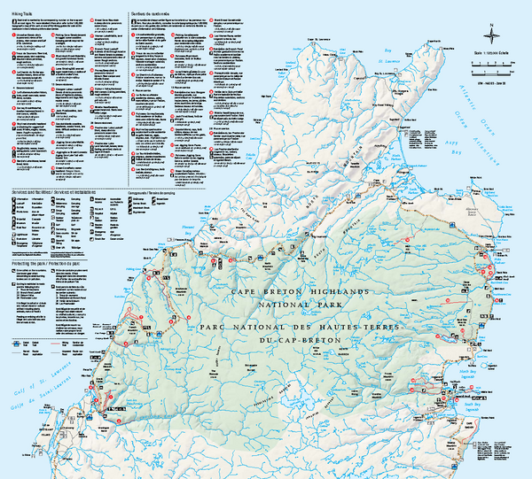 Cape Breton Highlands National Park Map Cape Breton Highlands