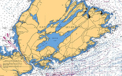 Cape Breton Island Nautical Map
