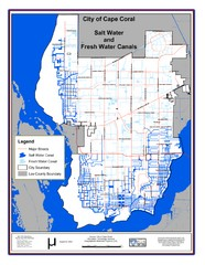 Cape Coral, Florida City Map