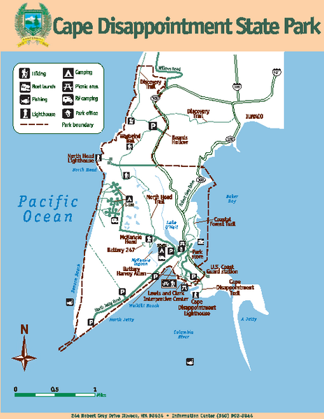 Cape Dissapointment State Park Map