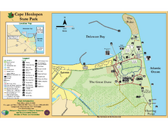 Cape Henlopen State Park Map