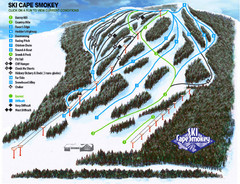 Cape Smokey Ski Lodge Ski Trail Map