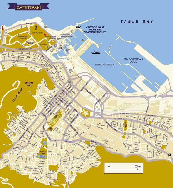 Cape Town City Map Cape Town South Africa mappery