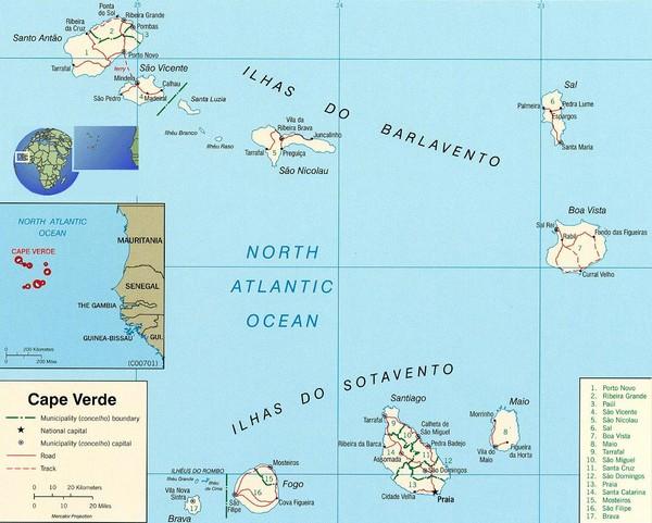 Cape Verde Africa Map Cape Verde Africa mappery