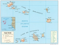Cape Verde Islands Map