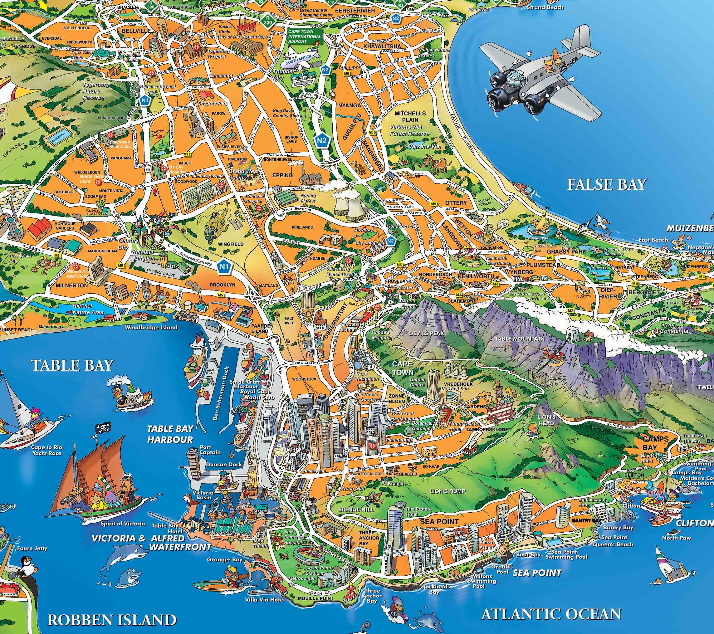 Capetown-Tourist-Map.jpg Cape Town Map