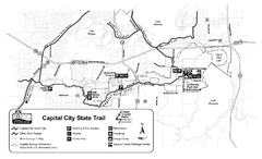 Capitol City State Trail Map