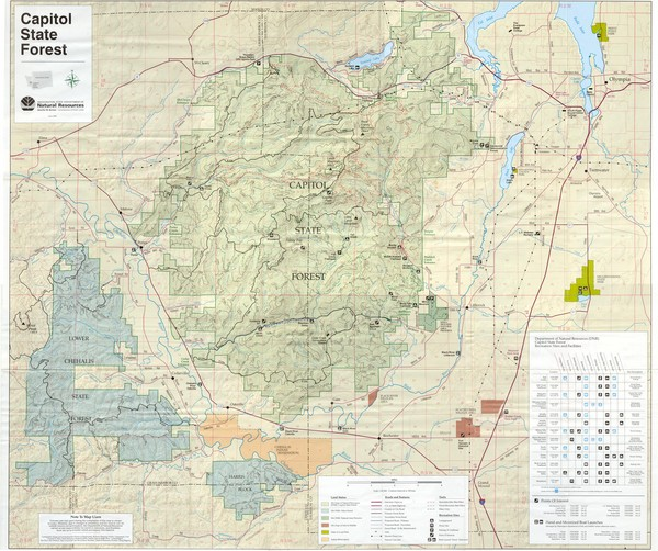 Capitol State Forest Map