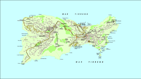 Capri Tourist Map