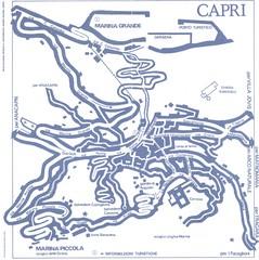 Capri Tourist Map - Capri Italy • mappery on