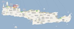 Car Hire Crete Map