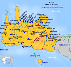 Car Rental Crete Map
