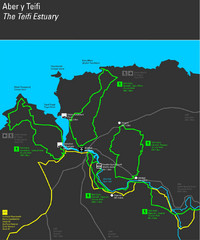 Cardigan Walks Map