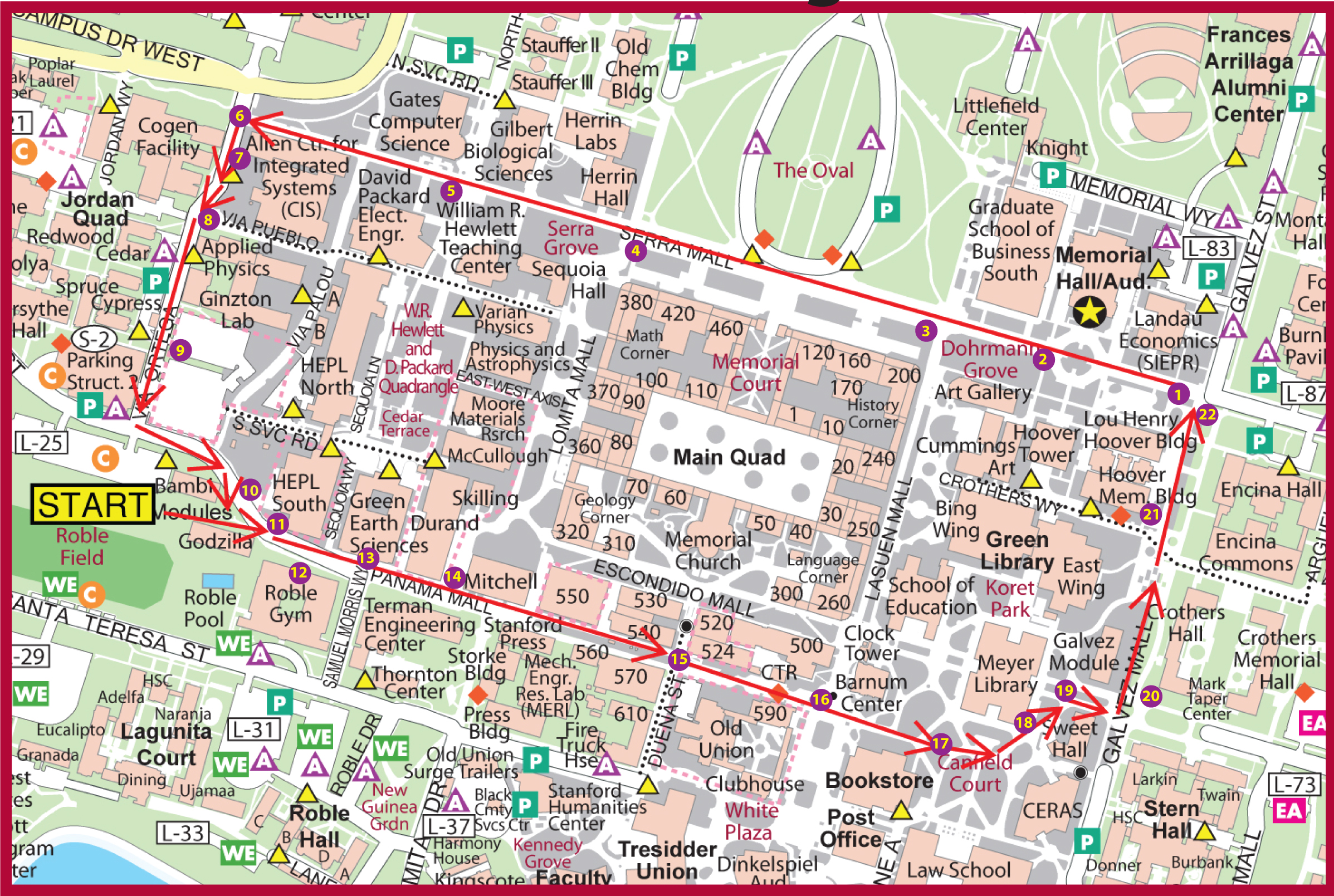 Stanford Zip Code Map.Stanford University Address Map Www Healthgain Store
