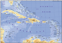 Real Life Map Collection Mappery - Jamaica shaded relief map 1968