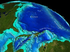 Caribbean Sea Bathymetry Map