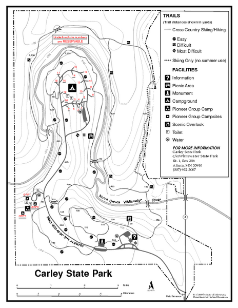 Carley State Park Map