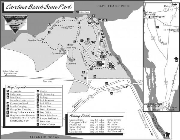 Carolina Beach Map on