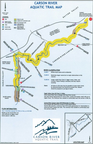 Carson River Aquatic Trail Map - Arrowhead Drive Carson City NV ...