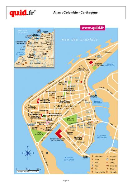 Cartagena City Map Cartagena Colombia Mappery - Cartagena de indias map