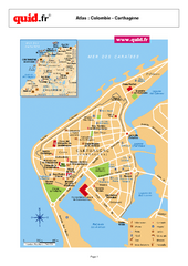 Cartagena City Map