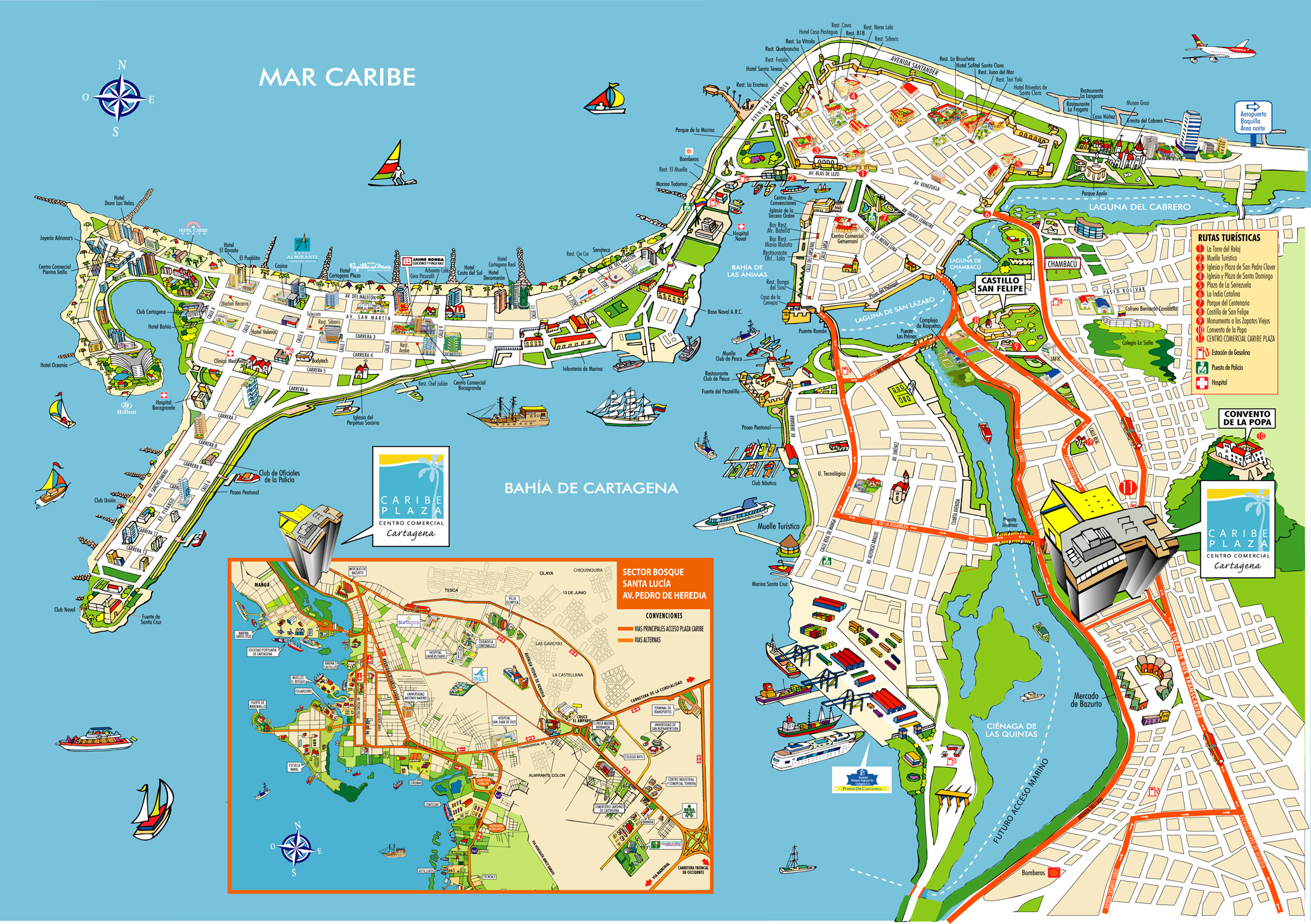 cartagena colombia map CartagenaColombiaTravel – Colombia Tourist Attractions Map