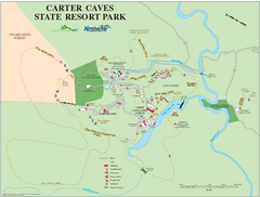 Carter Caves State Resort Park Map
