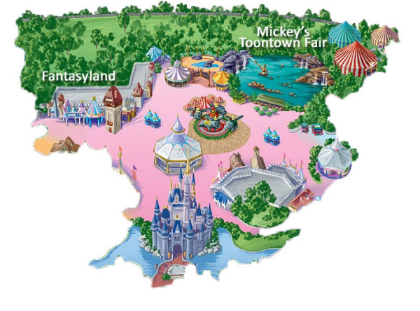 Cartoon Map of Disney