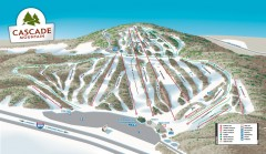 Cascade Mountain Ski Trail Map