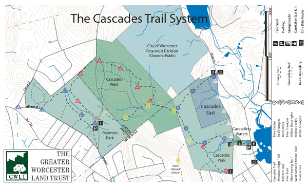 Cascades Park Map worcester ma mappery