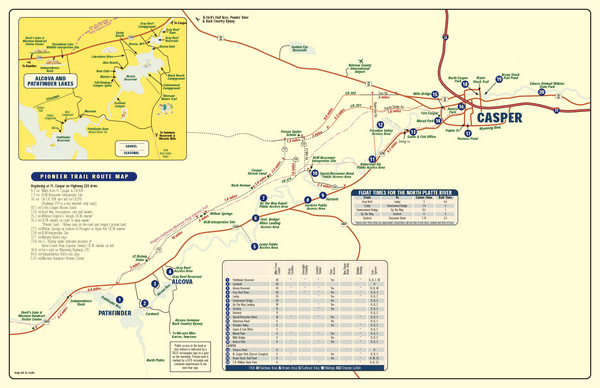 Casper, Wyoming City Map