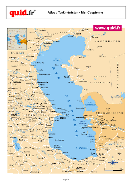 Caspian Sea Map - Caspian Sea • mappery