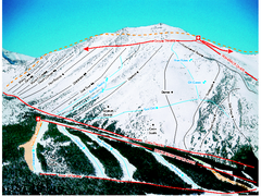 Castle Mountain Resort Ski Trail Map